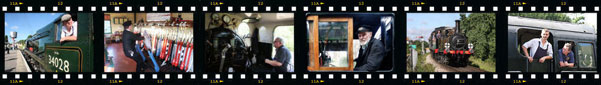 Filmstrip of railway photos